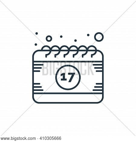 calendar icon isolated on white background from saint patrick collection. calendar icon thin line ou