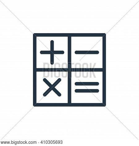 calculator outline icon isolated on white background from technology collection. calculator outline