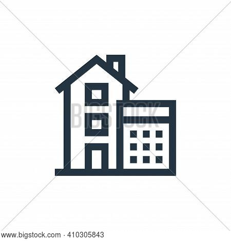 calculations icon isolated on white background from real estate collection. calculations icon thin l