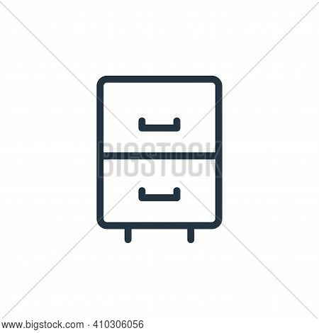 cabinet drawer icon isolated on white background from work office supply collection. cabinet drawer