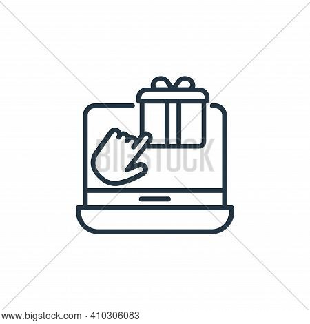 buy online icon isolated on white background from shopping line icons collection. buy online icon th