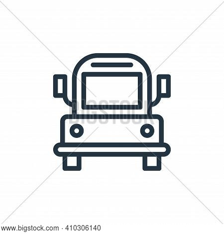 bus icon isolated on white background from school collection. bus icon thin line outline linear bus
