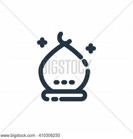 building icon isolated on white background from ramadan kareem collection. building icon thin line o