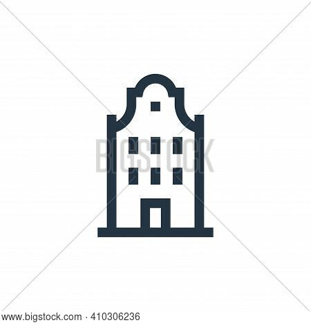 building icon isolated on white background from holland collection. building icon thin line outline