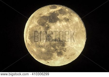 Full February Moon - Snow Moon Close Up