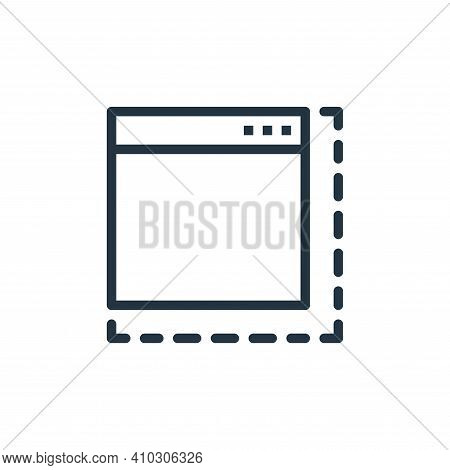 browser icon isolated on white background from user interface collection. browser icon thin line out