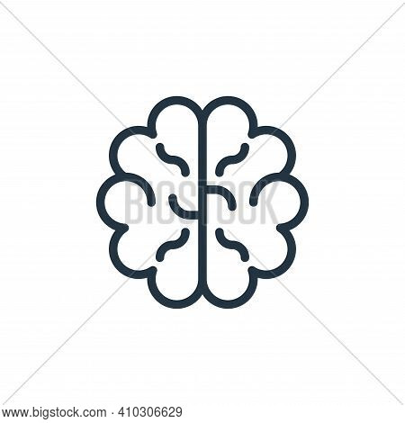 brain icon isolated on white background from school collection. brain icon thin line outline linear