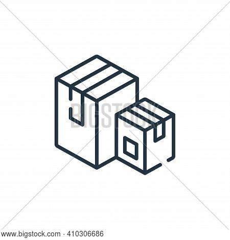 boxes icon isolated on white background from delivery collection. boxes icon thin line outline linea