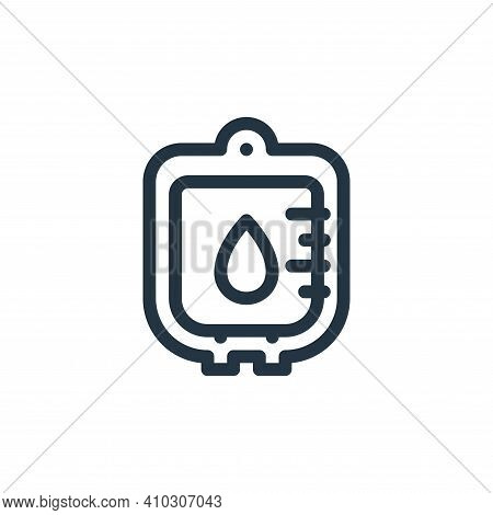 blood transfusion icon isolated on white background from medical tools collection. blood transfusion