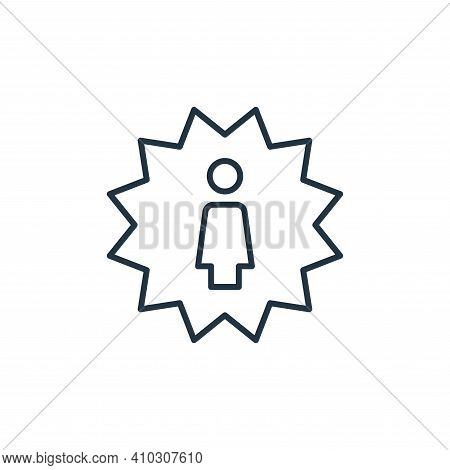 best employee icon isolated on white background from leadership collection. best employee icon thin