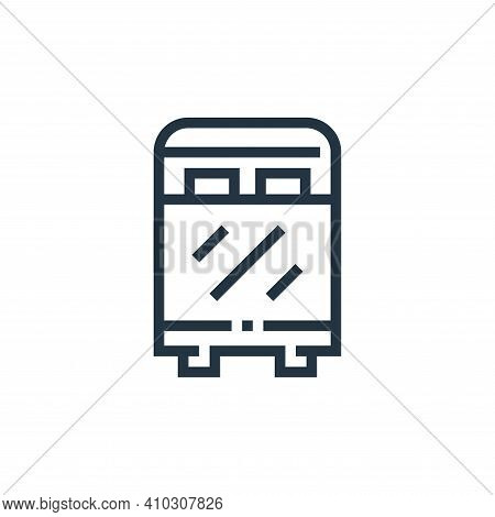 bed icon isolated on white background from inside home collection. bed icon thin line outline linear