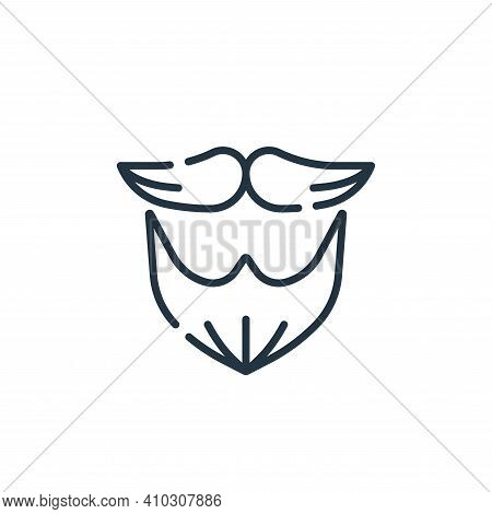 beard icon isolated on white background from hairdressing and barber shop collection. beard icon thi