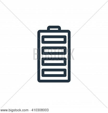 battery icon isolated on white background from technology collection. battery icon thin line outline