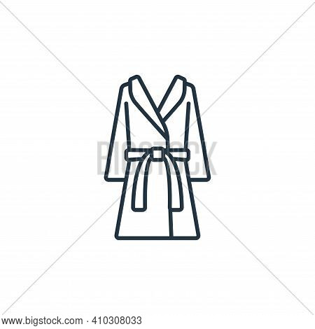 bathrobe icon isolated on white background from clothes and outfit collection. bathrobe icon thin li