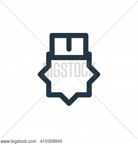 award icon isolated on white background from marketing business collection. award icon thin line out