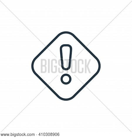 attention icon isolated on white background from covid collection. attention icon thin line outline