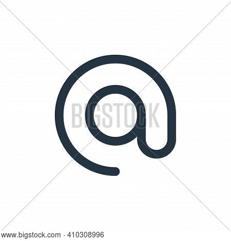 at icon isolated on white background from user interface collection. at icon thin line outline linea