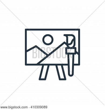 art icon isolated on white background from education collection. art icon thin line outline linear a
