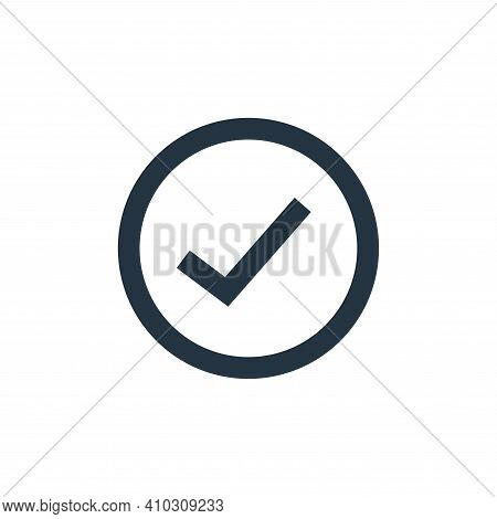 approve icon isolated on white background from user interface collection. approve icon thin line out