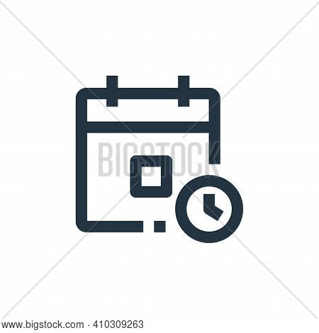 appointment icon isolated on white background from medical kit collection. appointment icon thin lin