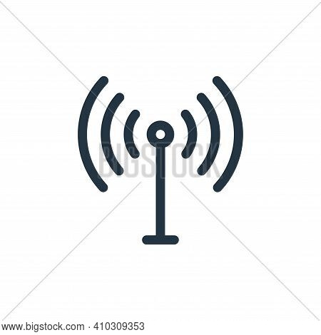 antenna icon isolated on white background from electronics collection. antenna icon thin line outlin