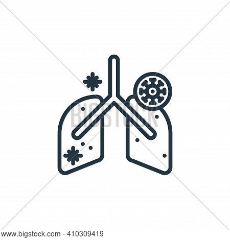 anatomy icon isolated on white background from virus collection. anatomy icon thin line outline line