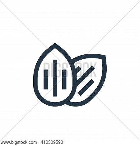 almond icon isolated on white background from nutrition collection. almond icon thin line outline li