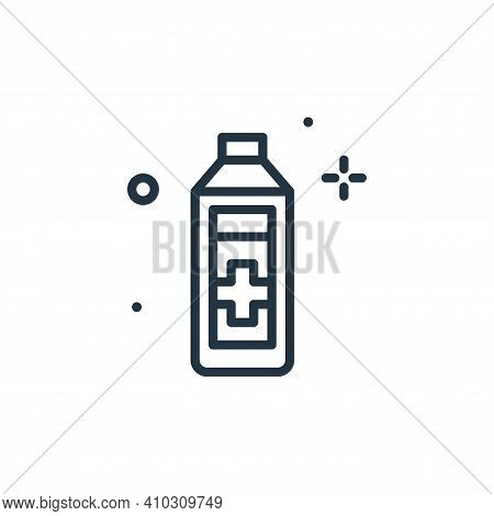 alcohol icon isolated on white background from hygiene collection. alcohol icon thin line outline li