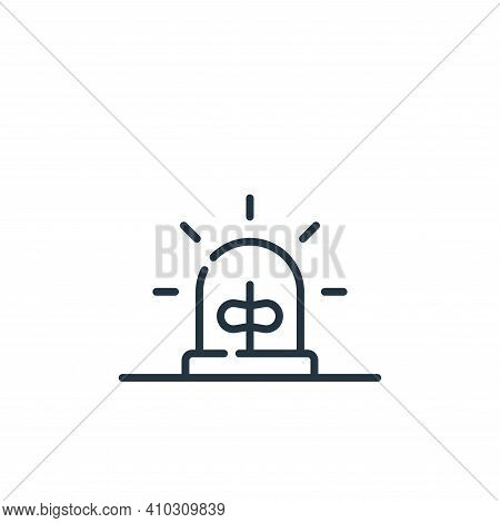 alarm icon isolated on white background from hacker collection. alarm icon thin line outline linear