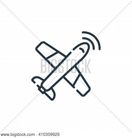airplane icon isolated on white background from navigation and maps collection. airplane icon thin l