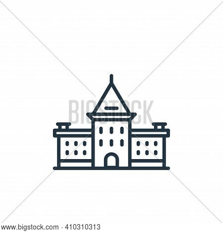 academy icon isolated on white background from academy collection. academy icon thin line outline li