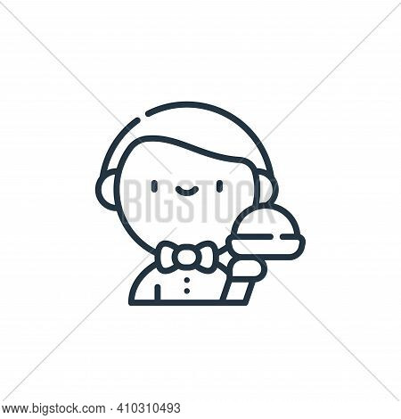 waiter icon isolated on white background from labour day collection. waiter icon thin line outline l