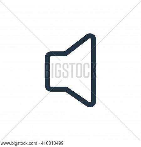volume icon isolated on white background from multimedia collection. volume icon thin line outline l