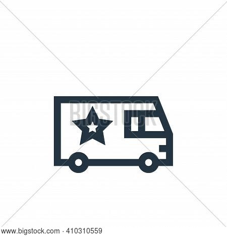 van icon isolated on white background from rock and roll collection. van icon thin line outline line