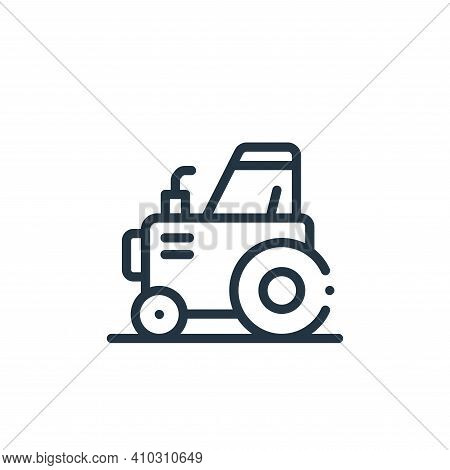tractor icon isolated on white background from in the village collection. tractor icon thin line out