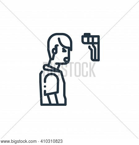 thermometer icon isolated on white background from virus transmission collection. thermometer icon t