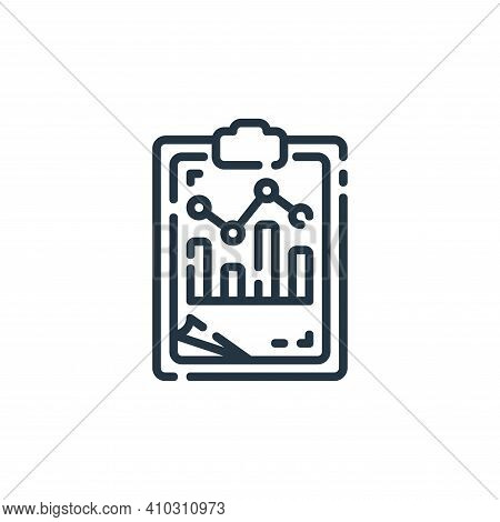 statistics icon isolated on white background from startup collection. statistics icon thin line outl