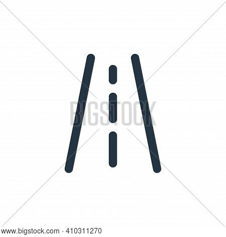 road icon isolated on white background from holiday collection. road icon thin line outline linear r