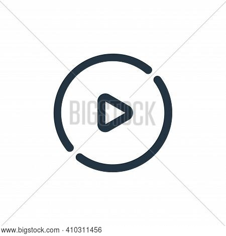 play button icon isolated on white background from video collection. play button icon thin line outl