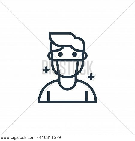 patient icon isolated on white background from pandemic collection. patient icon thin line outline l