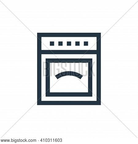 oven icon isolated on white background from electronics collection. oven icon thin line outline line