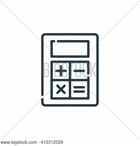 mathematics tool icon isolated on white background from ecommerce collection. mathematics tool icon