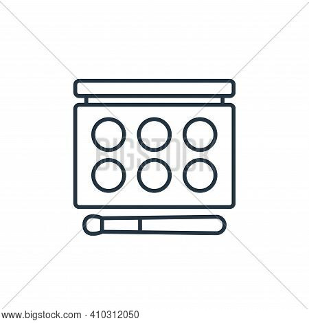 makeup palette icon isolated on white background from beauty cosmetics collection. makeup palette ic