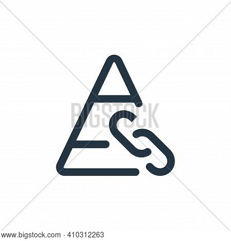 link icon isolated on white background from web apps seo collection. link icon thin line outline lin
