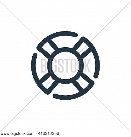 lifebuoy icon isolated on white background from travel collection. lifebuoy icon thin line outline l