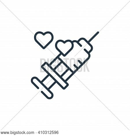 injection icon isolated on white background from kindness collection. injection icon thin line outli