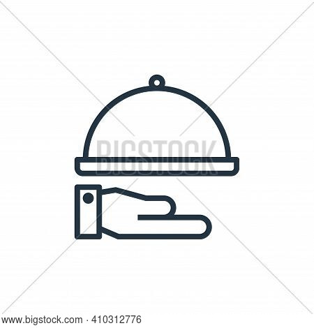 hand icon isolated on white background from hotel collection. hand icon thin line outline linear han