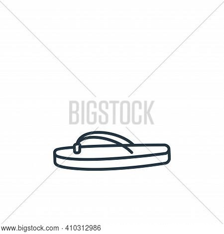 Flip flop icon isolated on white background from clothes and outfit collection. Flip flop icon thin