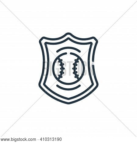 emblem icon isolated on white background from baseball collection. emblem icon thin line outline lin