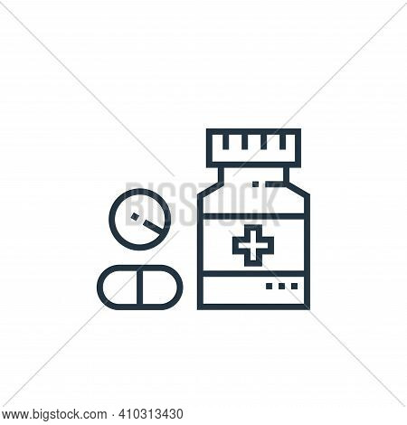 drugs icon isolated on white background from medical services collection. drugs icon thin line outli